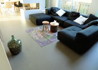 Betonlook gietvloer woonhuis Zeeland