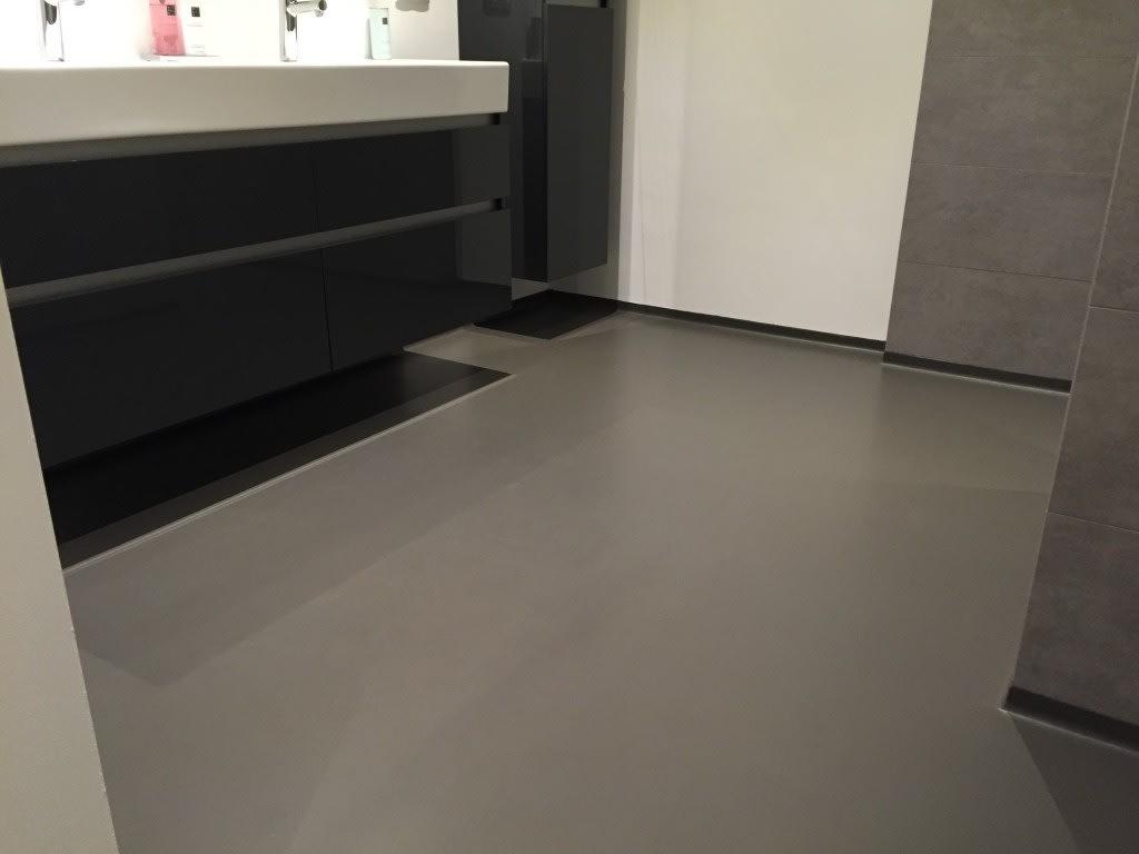 Gietvloer Voor Badkamer : Gietvloer badkamer uden betonlookvloeren.nl