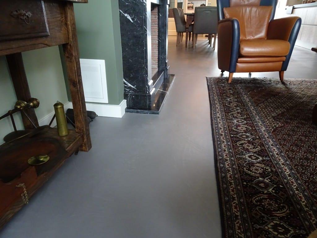 Gietvloer Op Beton : Cementgebonden gietvloer beton cire uden betonlookvloeren.nl